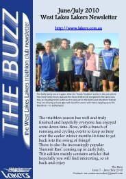 June/July 2010 West Lakes Lakers Newsletter - the Lakers Triathlon ...