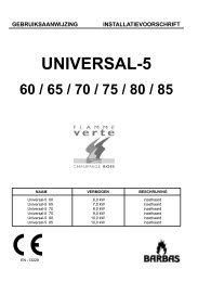 Gebruiksaanwijzing Barbas Universal 5 60 - UwKachel