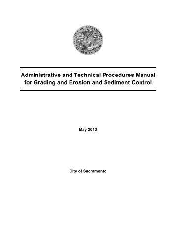 DRAFT Erosion and Sediment Control Plan - City of Sacramento ...