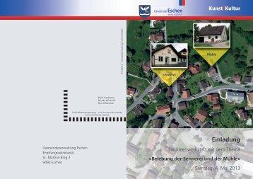 Einladung Ideenwettbewerb Sennerei Mühle_3.indd - Gemeinde ...
