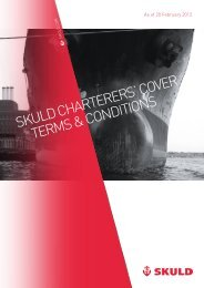 skuld Charterers' Cover terMs & CoNdItIoNs - Extranet - Skuld