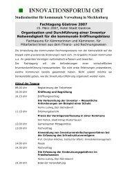 Studieninstitut für kommunale Verwaltung in Mecklenburg - hallobtf!