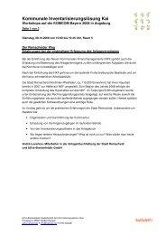 Kommunale Inventarisierungslösung Kai - hallobtf!