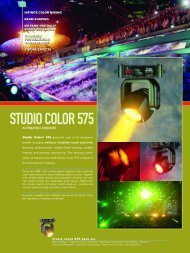 Brochure - High End Systems