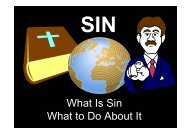 25 September 2011 morning sermon: Sin by brother Henry Kong