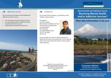Receiving Mental Health and/or Addiction Services? - Taranaki ...