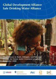 Safe Drinking Water Alliance - Environmental Health at USAID