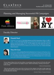 Planning and Managing Successful PR Campaigns - Clariden Global