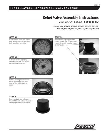 Relief Valve Assembly Instructions for Series ... - Backflow Supply