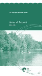 2003-2004 Annual Report - Huron River Watershed Council