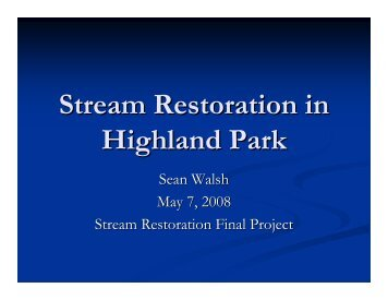 Stream Restoration in Highland Park