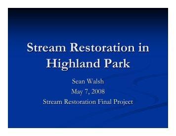 Stream Restoration in Highland Park