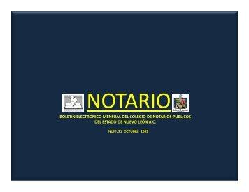 octubre 2009 - Colegio de Notarios Públicos NL