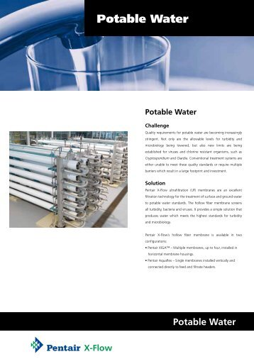 Potable Water - X-Flow