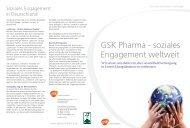 GSK Pharma - soziales Engagement weltweit - GlaxoSmithKline
