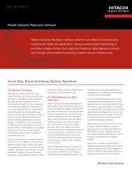 Hitachi Dynamic Replicator Software - Hitachi Data Systems