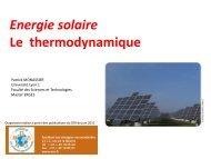 Solaire thermodynamique - Patrick MONASSIER