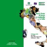 Nuove forme di lavoro in Lombardia e in Italia - Unioncamere ...