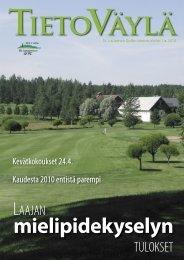 Tietoväylä 1/2010 - Golfpisteen etusivulle