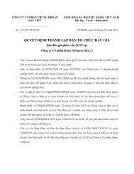 QUYẾT ÐỊNH THÀNH LẬP BAN TỔ CHỨC ÐẤU GIÁ