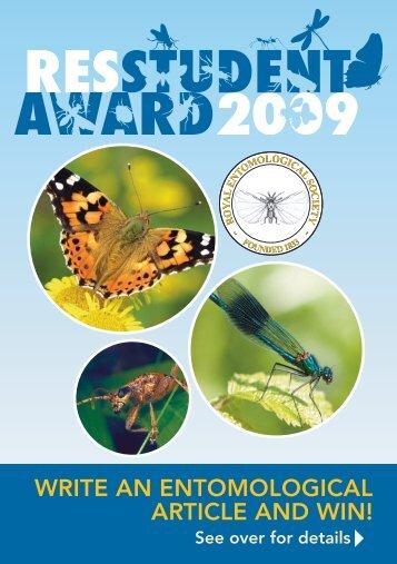 Entry forms - Royal Entomological Society