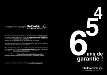 garantie ! - De Dietrich
