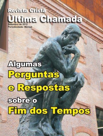 Setembro de 2012 - Revista Cristã Última Chamada.