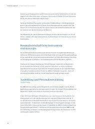 Personalwirtschaftliche Instrumente und Konzepte. Ausbildung und ...