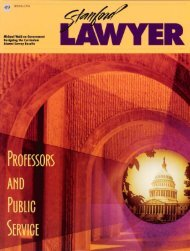 Spring 1996 – Issue 49 - Stanford Lawyer - Stanford University
