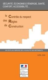 Plaquette CRC Janvier 2009 - Ministère du Développement durable