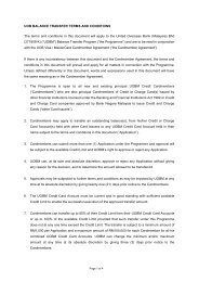 UOB BALANCE TRANSFER The terms and conditions in this ...