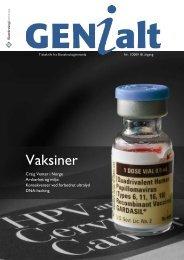 Last ned GENialt 1/2009 (pdf). - Bioteknologinemnda