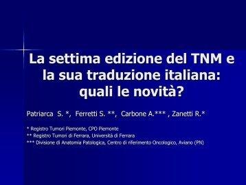 La settima edizione del TNM e la sua traduzione italiana: quali le ...