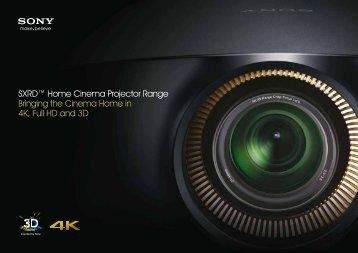 SXRD™ Home Cinema Projector Range Bringing ... - ELVIA Display