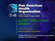La OPS / OMS y Cambio Climático