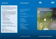 Flyer - Industrielle Biotechnologie - Technische Universität München