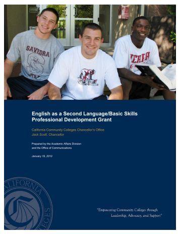 English as a Second Language/Basic Skills Professional - California ...
