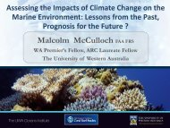 Assessing the Impacts of climate change on the Marine Environment ...