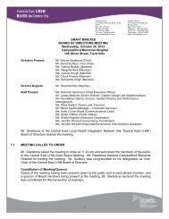 Meeting Minutes October 24, 2012 - Central East Local Health ...