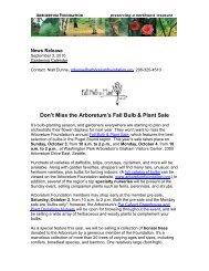 Fall Bulb & Plant Sale at the Arboretum (September 2010)