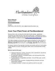 FlorAbundance Spring Plant Sale (March 2010) - The Arboretum ...
