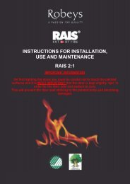 Rais 2-1 Installation, Use and Maintenance Manual - Robeys Ltd