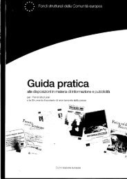 Guida pratica alle disposizioni in materia di ... - Ufficio Europa