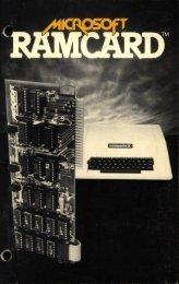 Microsoft RAMCard - Manual