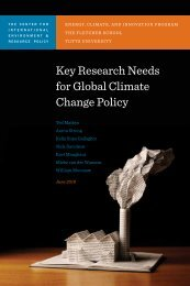 Key Research Needs for Global Climate Change Policy