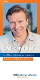 """""""Mehr als nur Kunde sein."""" - Hamburger Volksbank"""