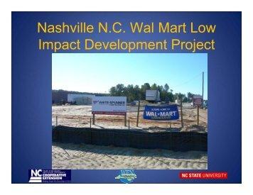 Nashville N.C. Wal Mart Low Impact Development Project