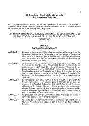 Normativa Interna del Servicio Comunitario del Estudiante de