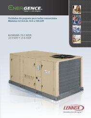 Unidades de paquete para techo comerciales Modelos LC/LG de ...