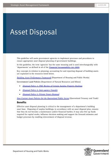 Asset Disposal - Department of Housing and Public Works ...